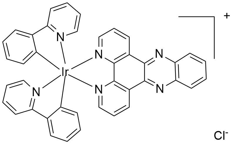 双(2,2'-联吡啶)(4,5,9,14-四氮杂苯并[b]苯并菲)二氯化铱