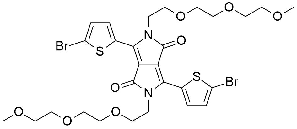 3,6-Bis(5-bromothiophen-2-yl)-2,5-bis(2-(2-(2-methoxyethoxy)ethoxy)ethyl)pyrrolo[3,4-c]pyrrole-1,4(2H,5H)-dione