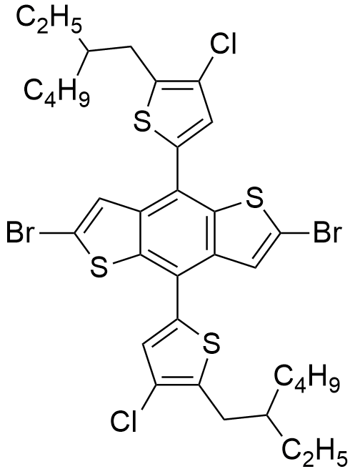 2,6-二溴-4,8-双(4-氯-5-(2-乙基己基)噻吩基)苯并[1,2-b:4,5-b']二噻吩