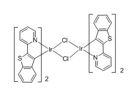 Tetrakis(2-(benzo[b]thiophen-2-yl)pyridine-C2,N')(µ-dichloro) diiridium(III)