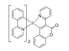 双(2-苯基吡啶)(3-(吡啶-2-基)-2H-异苯并吡喃-2-酮)合铱
