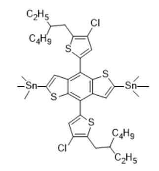 (4,8-二(4-氯-5-(2-乙基己基)噻吩-2-基)苯并[1,2-b:4,5-b']二噻吩-2,6-二基)双三甲基锡