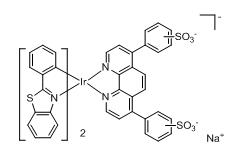 Bis(2-phenylbenzothiazole-C2,N)(bathophenanthrolinedisulfonate) iridium(III)