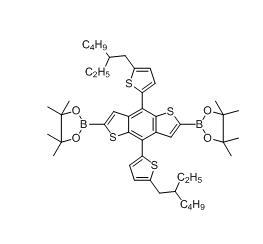 2,2'-(4,8-双(5-(2-乙基己基)-噻吩-2)苯并[1,2-b:4,5-b']二噻吩-2,6)双(4,4,5,5-四甲基-1,3,2-二硼酸酯)