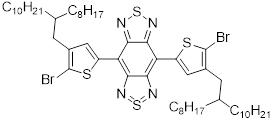 4,8-二(5-溴-4-(2-辛基十二烷基)噻吩基)-苯并[1,2-c;4,5-c']二[1,2,5]噻二唑