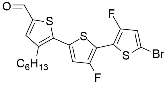 5''-溴-3'',4'-二氟-3-己基-[2,2':5',2''-三联噻吩]-5-甲醛