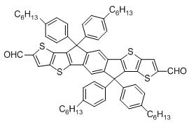 6,6,12,12-四(4-己基苯基)-6,12-二氢二噻吩[2,3-d:2',3'-d']-s-茚并[1,2-b:5,6-b']二噻吩-2,8-二吡咯甲醛