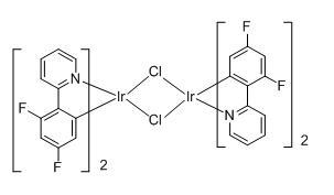 四(4,6-二氟-2-(2-吡啶基)苯基-C2,N)(µ-二氯) 二铱(III)