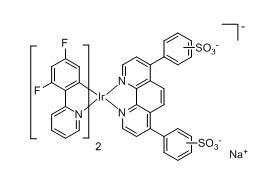 Bis(4,6-difluoro-2-(2-pyridyl)phenyl-C2,N)(bathophenanthroline- disulfonate)iridium(III)