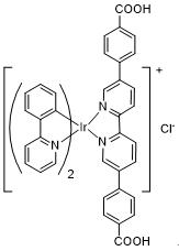 双(2-苯基吡啶-C2,N)(5,5'-二-p-苯甲酸-[2,2']二吡啶基)铱(III) 氯