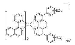 Bis(1-phenylisoquinoline-C2,N)(bathophenanthrolinedisulfonate) iridium(III)