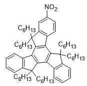 5,5,10,10,15,15-Hexahexyl-2-nitro-10,15-dihydro-5H-diindeno[1,2-a:1',2'-c]fluorene