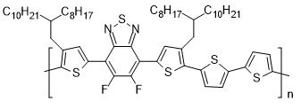 聚[(5,6-二氟-2,1,3-苯并噻二唑)-alt-(3,3'''-di(2-辛基十二烷基)-2,2';5',2'';5'',2'''-四联噻吩)]