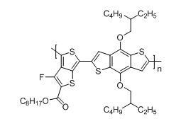 聚[[4,8-双[(2-乙基己基)氧基]-苯并[1,2-B:4,5-B']二噻吩-2,6-二基][3-氟-2-[(2-辛基)羰基]噻吩[3,4-b]并噻吩]