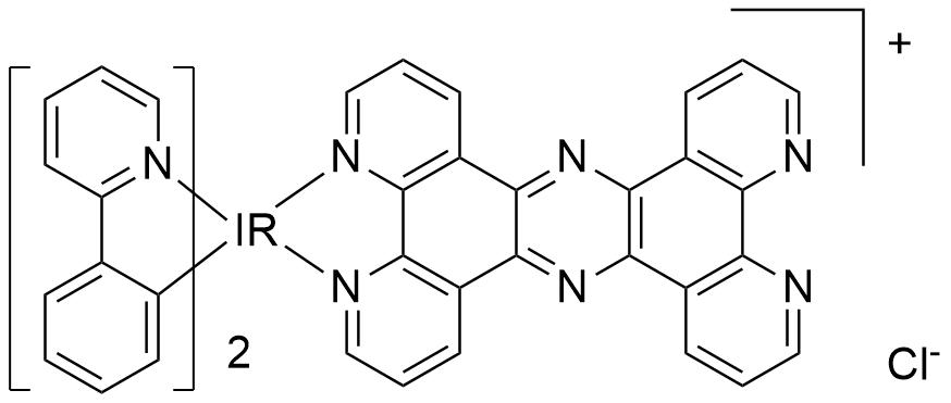双(2-苯基吡啶-C2,N)(四吡啶[3,2-a:2',3'-c:3'',2''-h:2''',3'''-j]吩嗪) 氯化铱