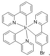 Bis(2-phenylpyridine-C2,N')(2-(4-bromophenyl)pyridine) iridium(III)