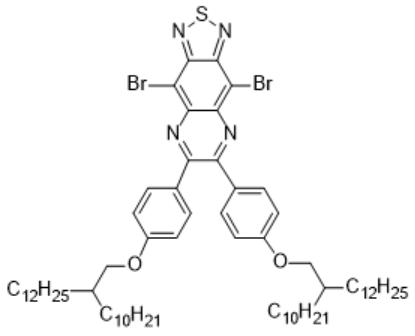 4,9-二溴-6,7-双(4-((2-癸基十四烷基)氧)苯基)-[1,2,5]噻二唑并[3,4-g]喹喔啉