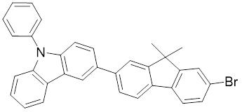 3-(7-溴-9,9-二甲基-9H-芴-2-基)-9-苯基-9H-咔唑