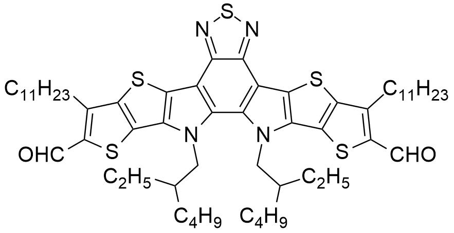 12,13-二(2-乙基己基)-3,9-双十一基-12,13-二氢-[1,2,5]噻二唑并[3,4-e]噻吩并[2'',3'':4',5']噻吩并[2',3':4,5]吡咯并[3,2-g]噻吩并[2',3':4,5]噻吩并[3,2-b]吲哚-2,10-二醛