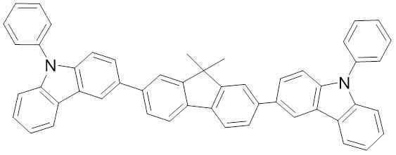 3,3'-(9,9-二甲基 -9H-芴-2,7-二基)双(9-苯基-9H-咔唑)